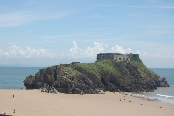 Beach view at Tenby, Wales