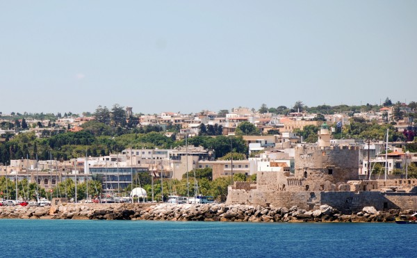 View over Rhodes from the harbor