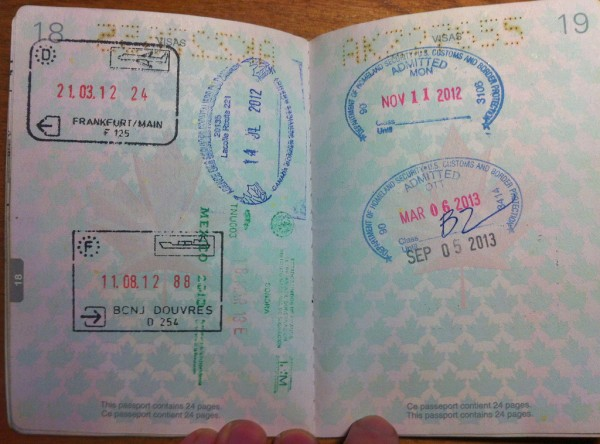 Traveling with a passport