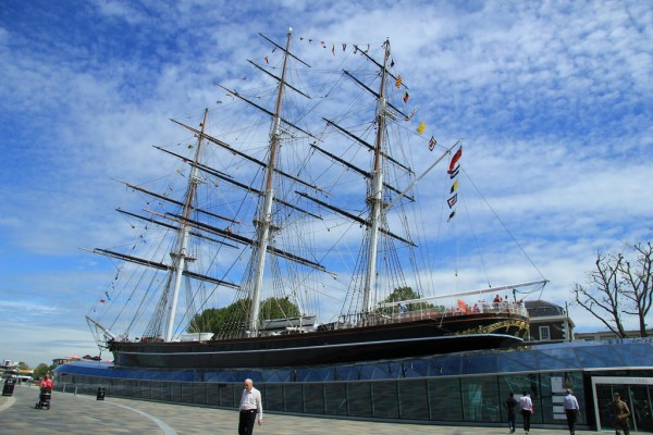 The Cutty Sark sailing ship
