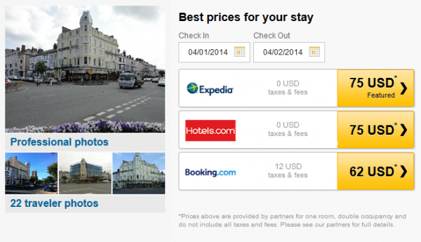 Alexandra Hotel - prices by partners