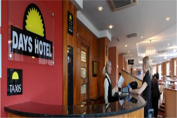 Days Hotel Belfast reception desk