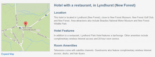Lyndhurst Park Hotel - description