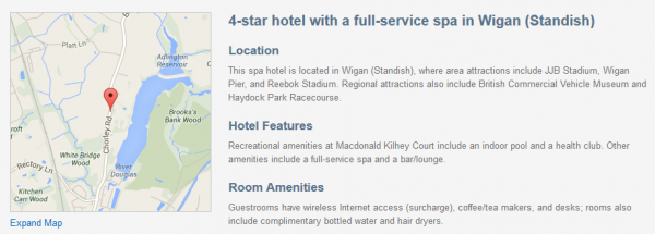 Macdonald Kilhey Court Hotel - description