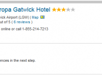 Budget vacation in London at Europa Gatwick Hotel