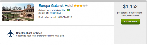 The Europa Gatwick Hotel - description