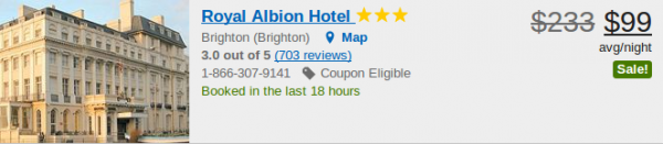 Royal Albion Hotel - deal details