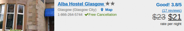 Alba Hostel in Glasgow - deal details