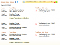 Birmingham flight with Turkish Airlines for $811