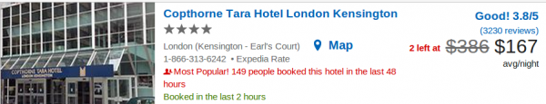 Copthorne Tara Hotel London Kensington - deal details